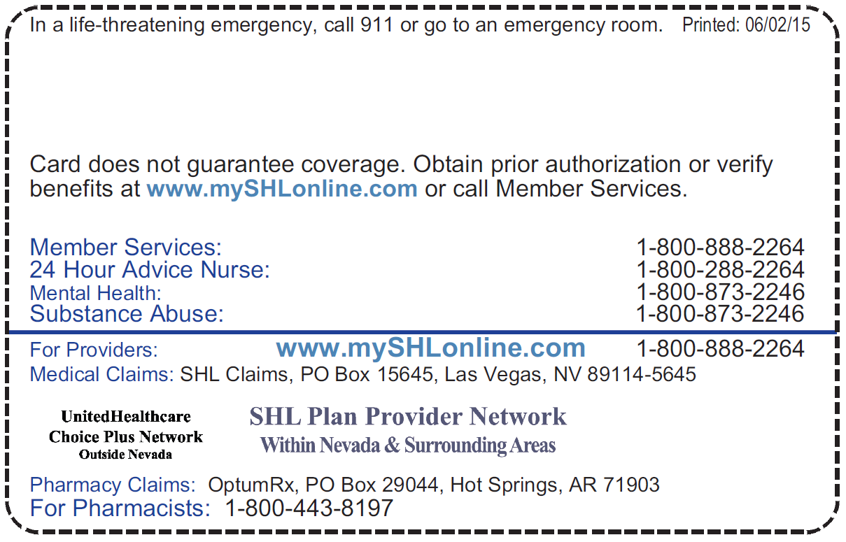 SHL Provider Directories-A Member-Sierra Health And Life