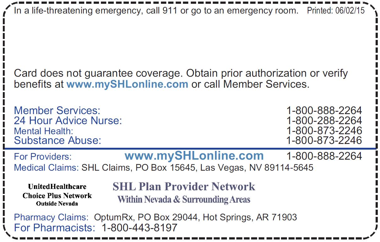 SHL Provider Directories