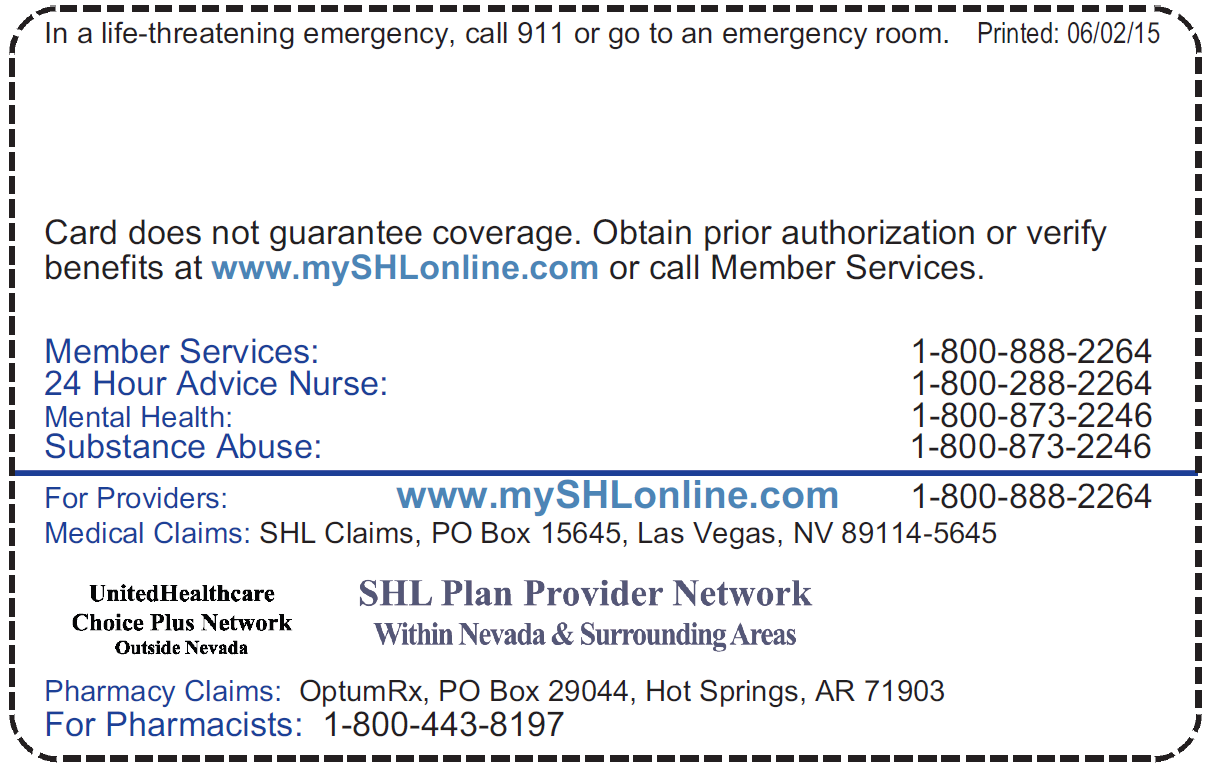 Shl Provider Directories A Member Sierra Health And Life